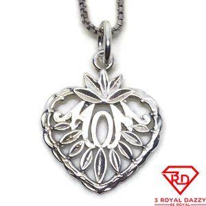Heart fruit Mom 3D Pendant 925 Sterling Silver
